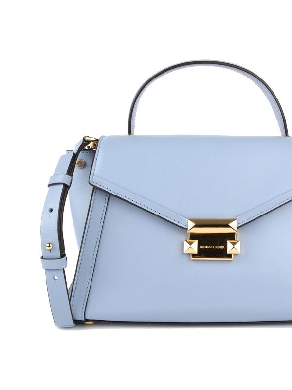 Michael Kors Whitney Satchel in Pale Blue