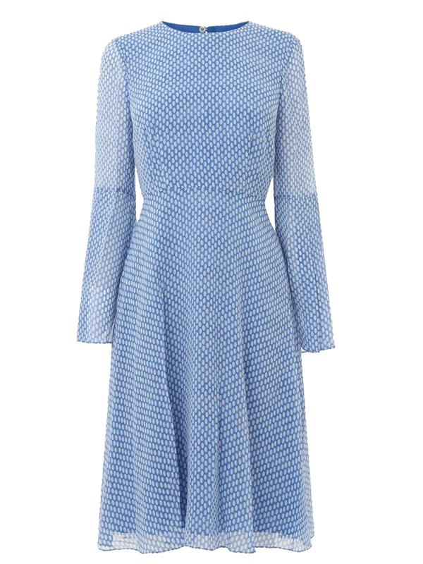 L.K. Bennett Abbie Dress in Blue and White
