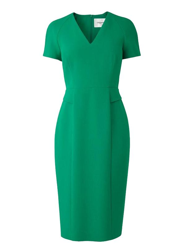 L.K. Bennett Bessa Dress in Fern Green