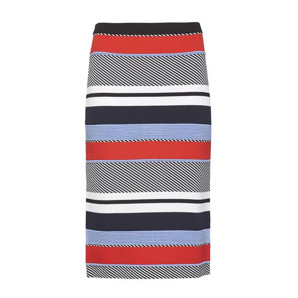 Tommy Hilfiger Stripe Fitted Pencil Skirt
