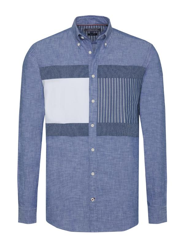 Tommy Hilfiger Patchwork Regular Fit Shirt