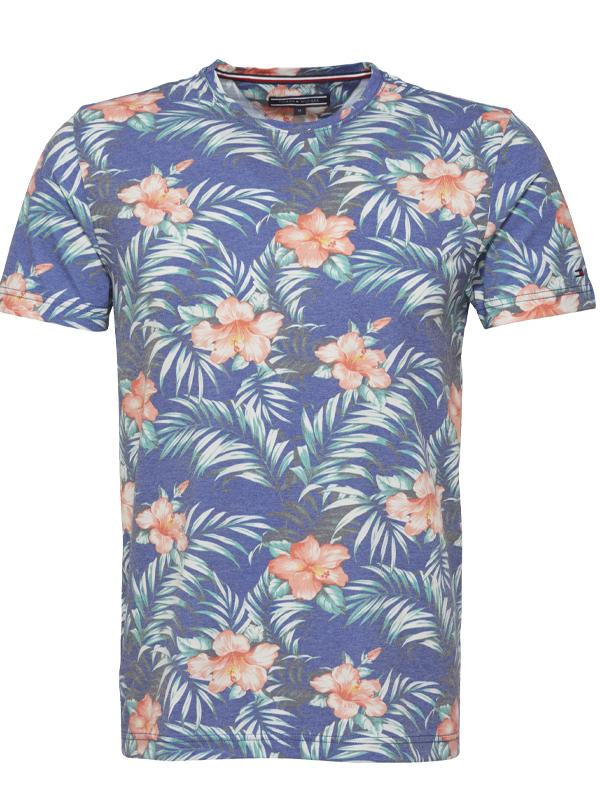 Tommy Hilfiger Allover Hibiscus Print T-shirt