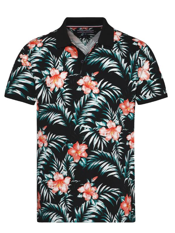 Tommy Hilfiger Floral Print Slim Fit Polo Shirt