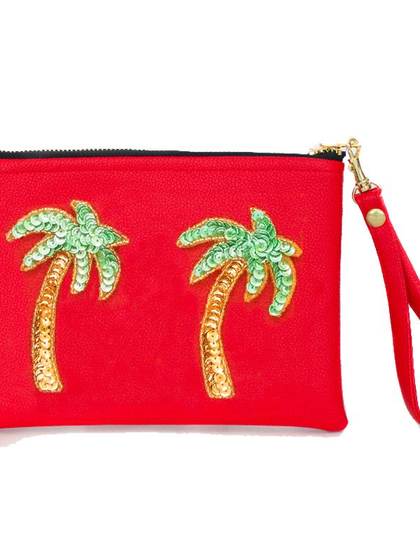Tea & Tequila Palm Tree Clutch