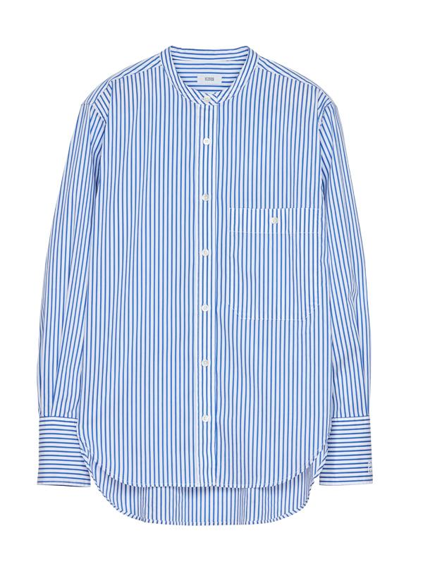 Closed Rowan Striped Collarless Shirt