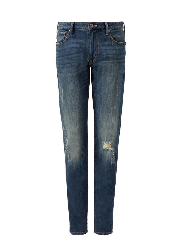 Emporio Armani J06 Slim Fit Stone Washed Jeans