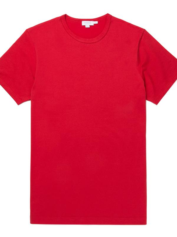 Short Sleeve Crew Tee in Ruby Red