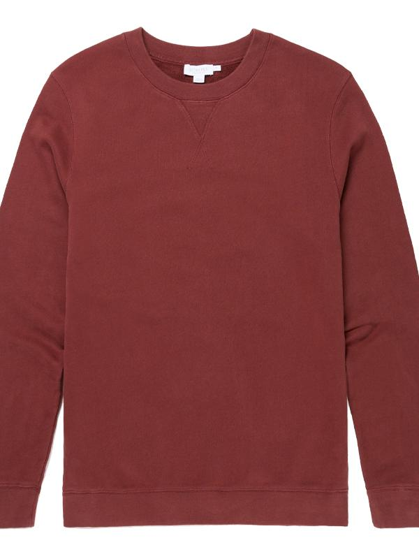 Cotton Jersey Sweatshirt in GF Claret