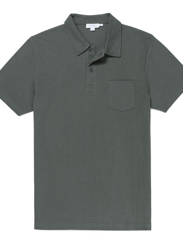 Riviera Polo Shirt in Scots Green