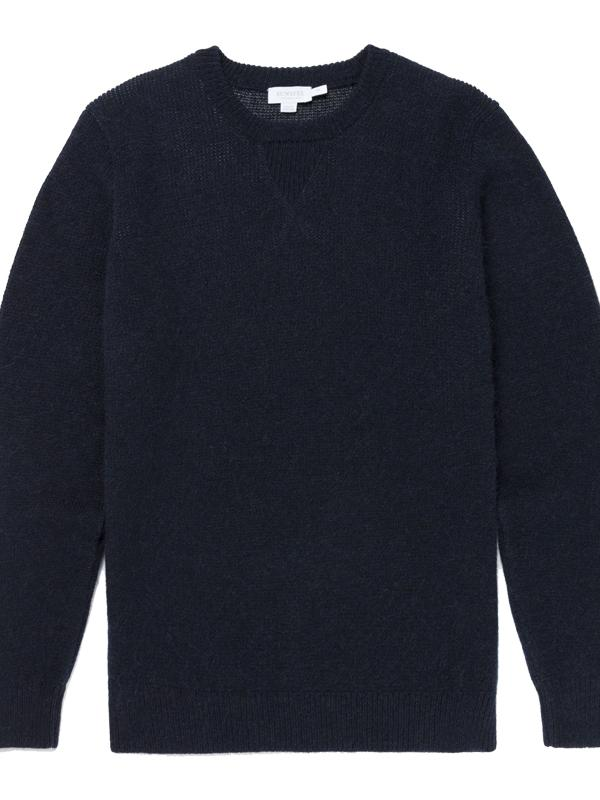 Alpaca Knit Navy Jumper