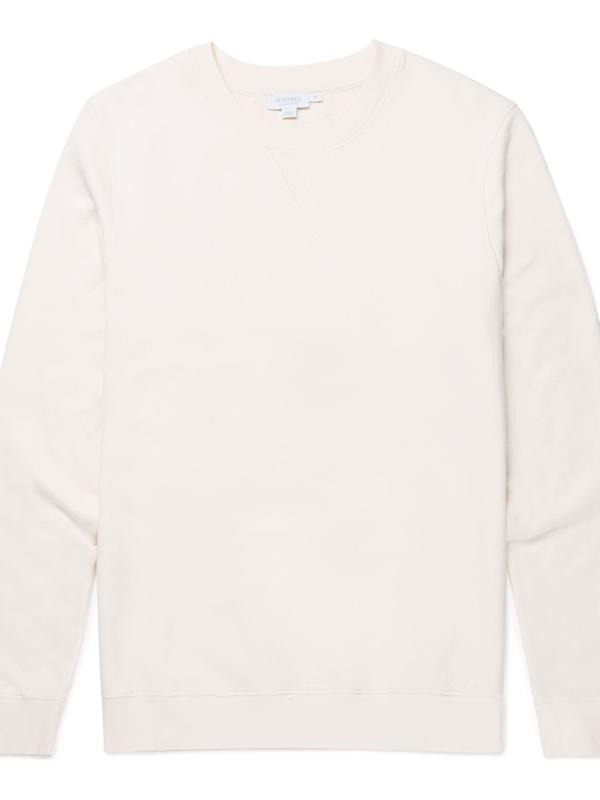 Cotton Jersey Sweatshirt in Archive White
