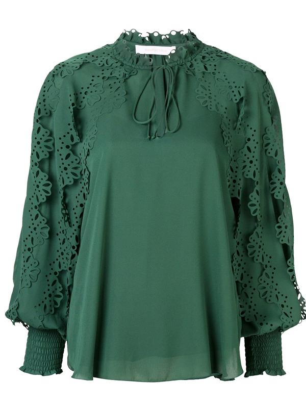 See By Chloe Laser Cut Blouse