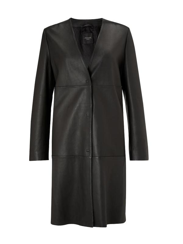 Weekend Max Mara Leather Duster Coat