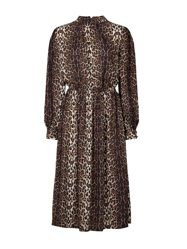 Lolly's Laundry Alberte Leopard Midi Dress