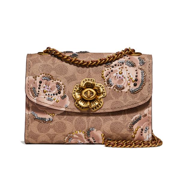 Coach Signature Rose Print Bag