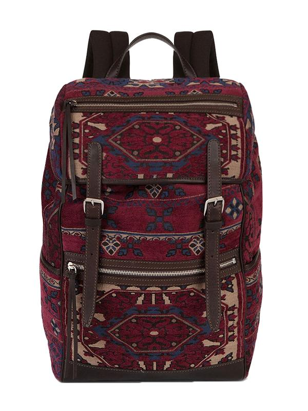 Etro Carpet Embroidery Jacquard Backpack