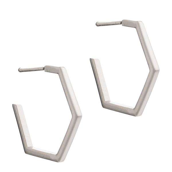 Rachel Jackson London Hexagonal Earrings