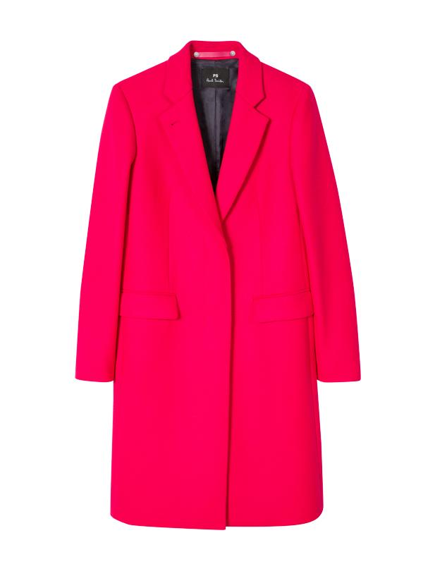 Paul Smith Epsom Coat in Raspberry