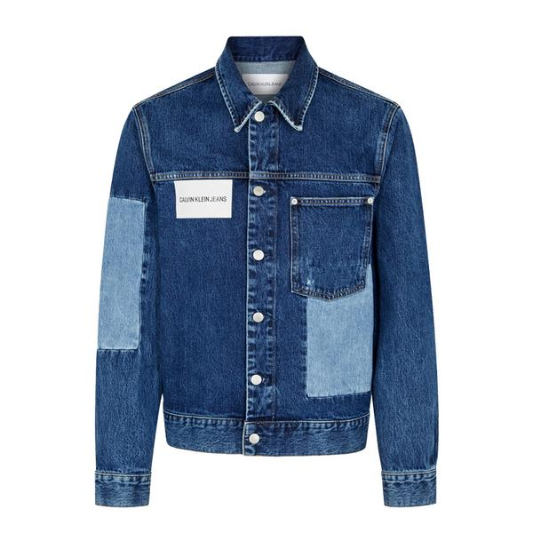 CK Jeans Patchwork Denim Jacket