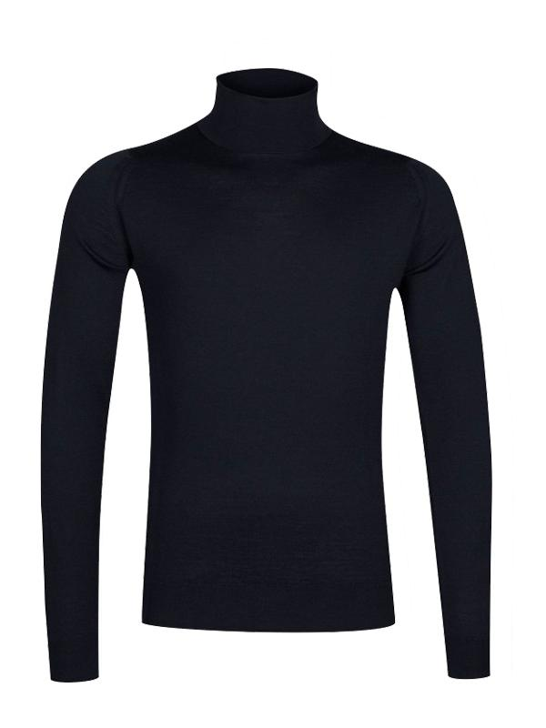 John Smedley Cherwell Roll Neck Jumper in Midnight