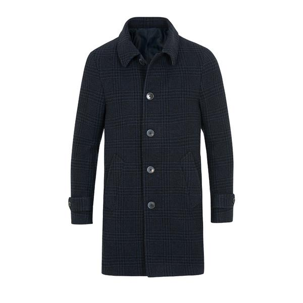 Hackett Wool Glencheck Car Coat