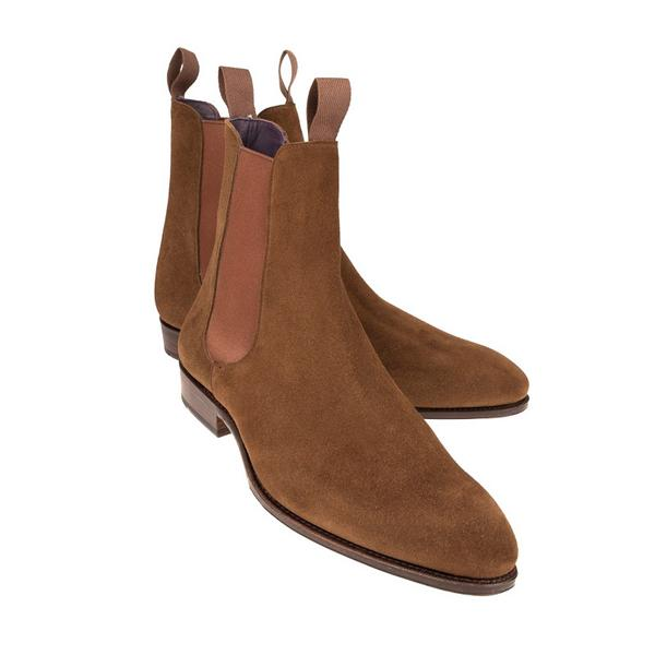 Carmina Snuff Suede Chelsea Boots in Inca