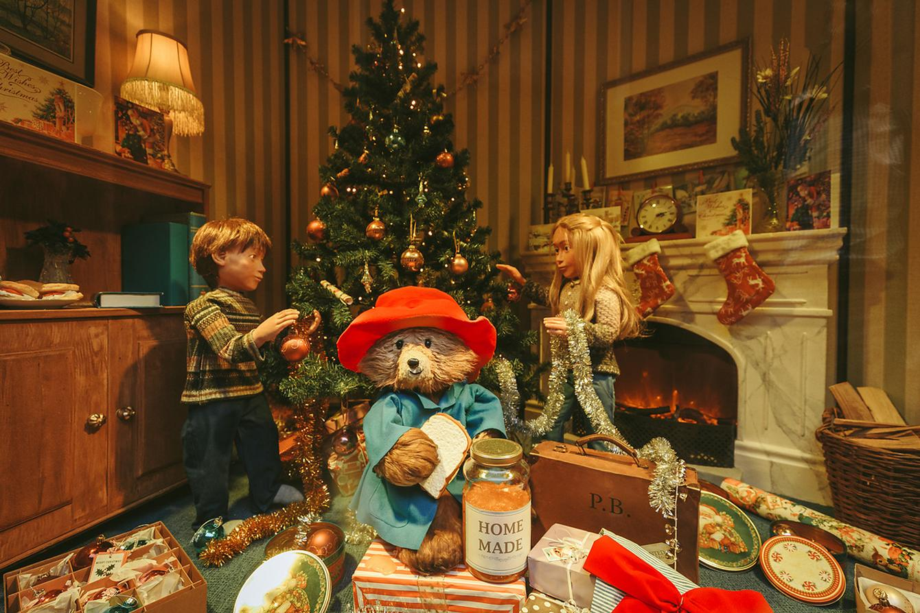 Paddington Bear Christmas Scene