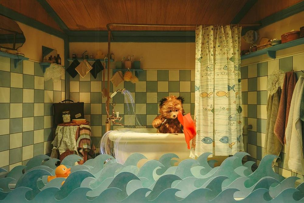 Paddington Bear in Bath Tub