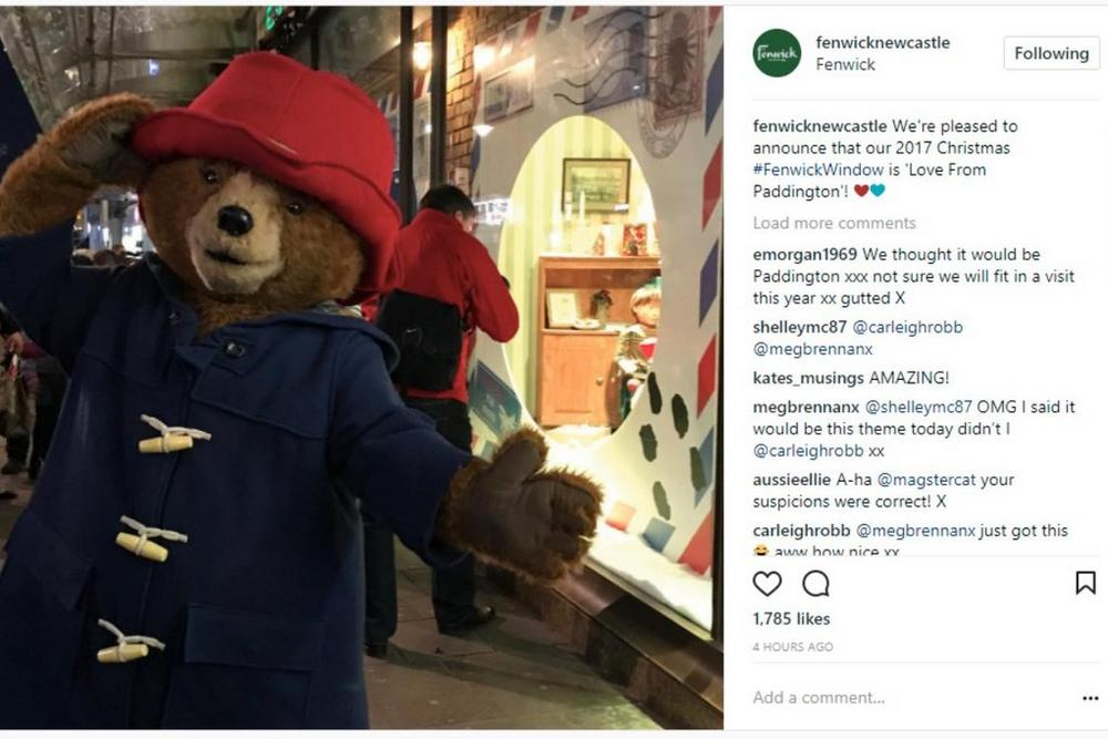 Paddington Bear Instagram