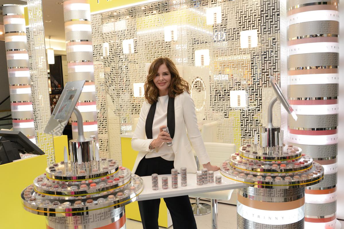 Trinny Woodall at launch of Trinny London make-up