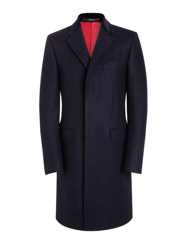 Crombie Pure Melton Wool Retro Coat