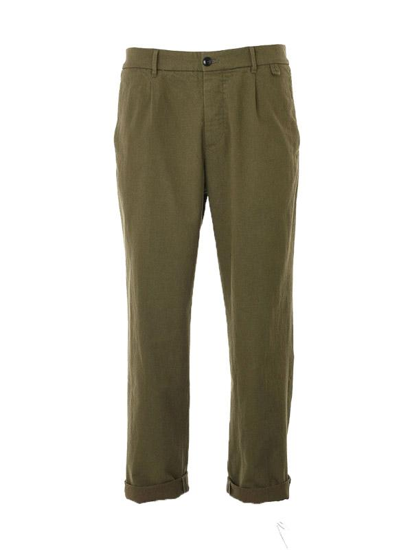 ABCL Miniera Gabardine  Trouser in Olive