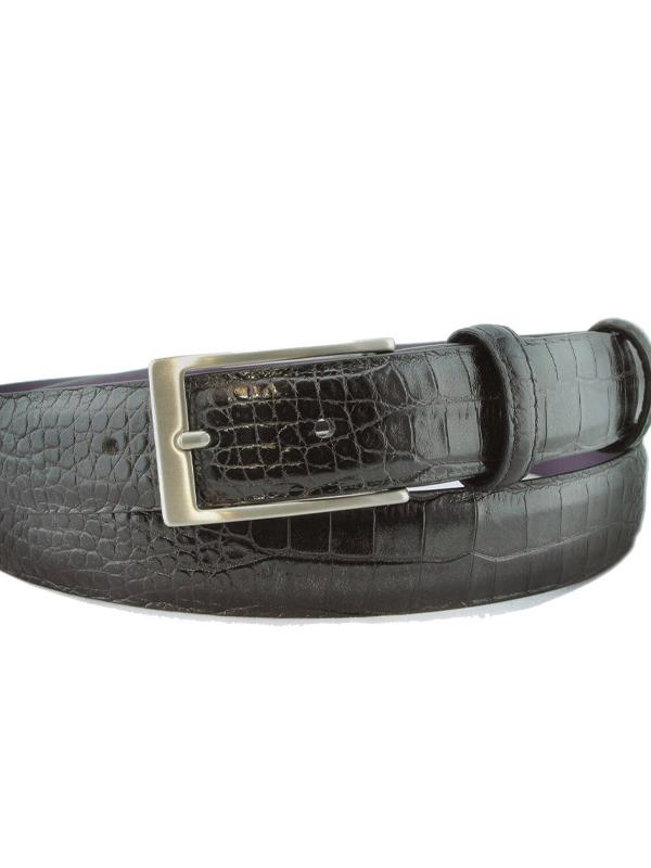 Elliot Rhodes Black Narrow Belt