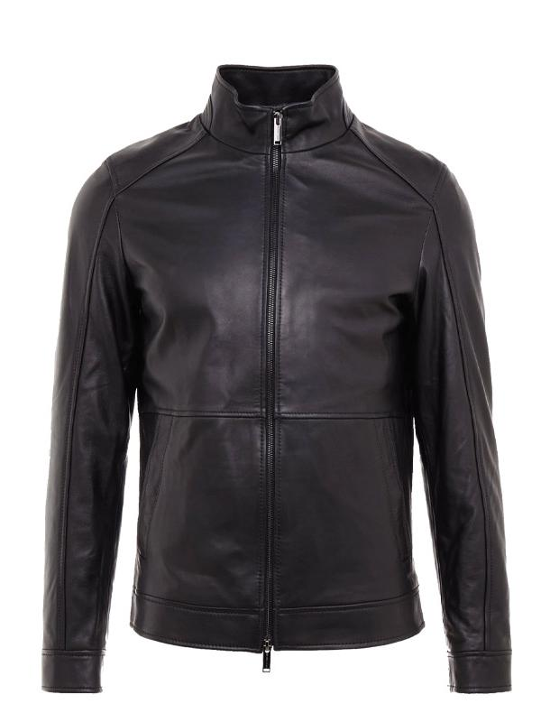 Michael Kors Leather Racer Jacket