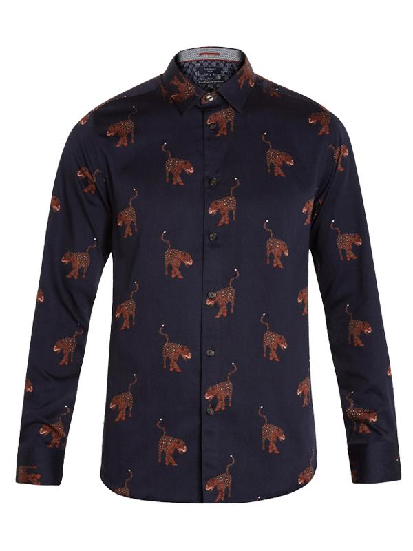 Ted Baker Pantha Leopard Print Cotton Shirt