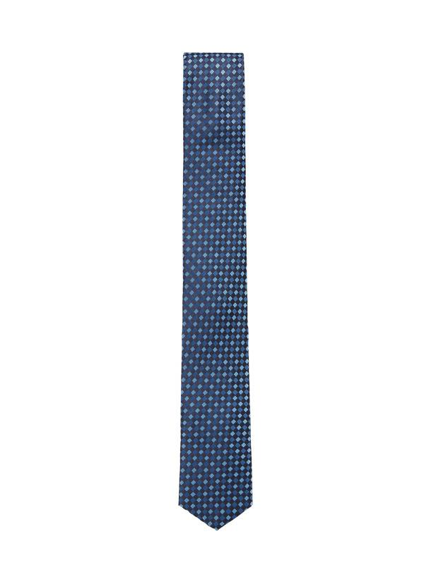 Hugo Boss Travel Line Silk Jacquard Tie in Blue