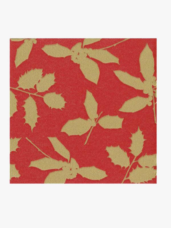 Caspari Holly Silhouette Cocktail Napkins