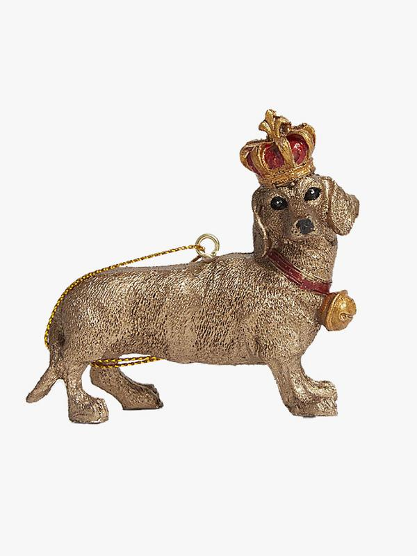 Gisela Graham Crowned Dachshund Ornament