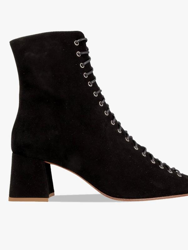 By Far Black Becca 50 Suede Ankle Boots