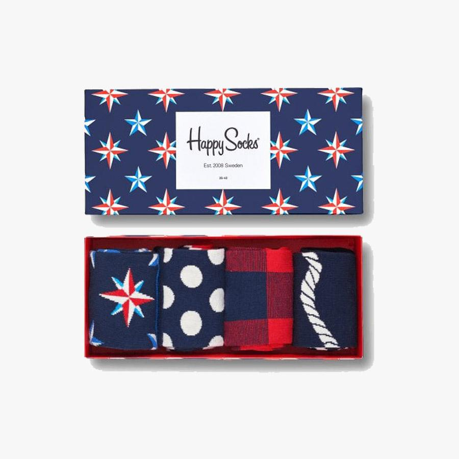 Happy Socks Men's Nautical Patterned Sock Gift Box