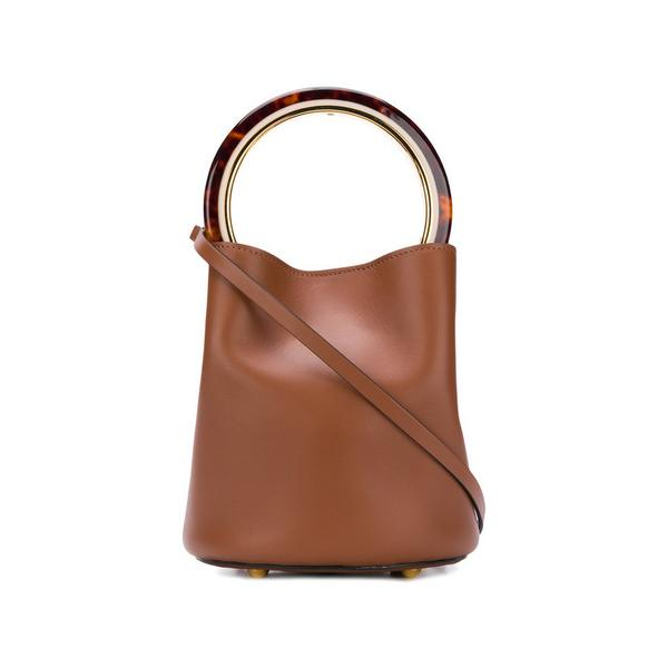 Marni Pannier Bag in Tan Leather