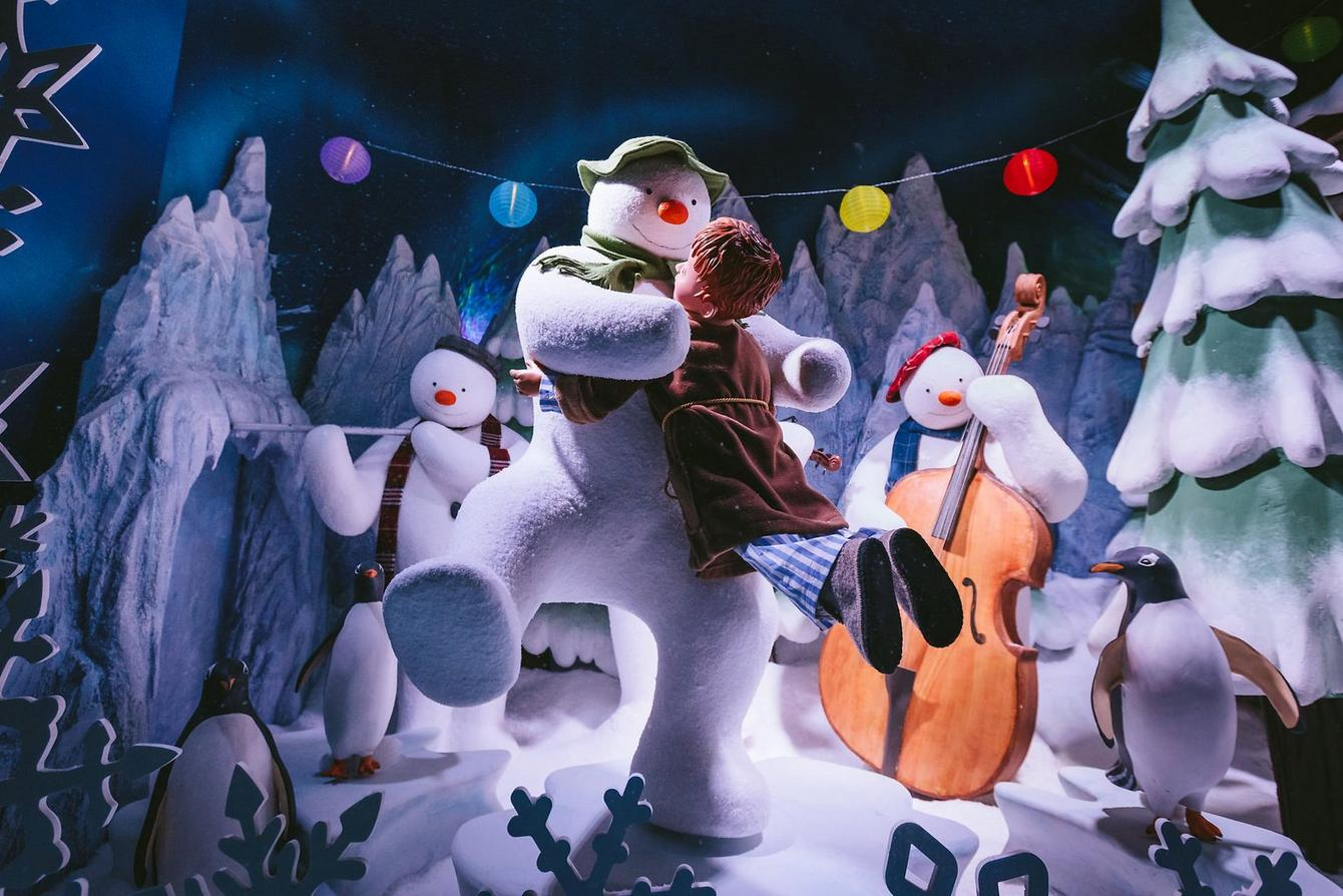 snowman fenwick christmas window 2018
