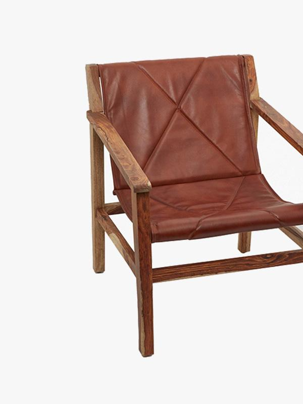 french connection home leather sling back chair
