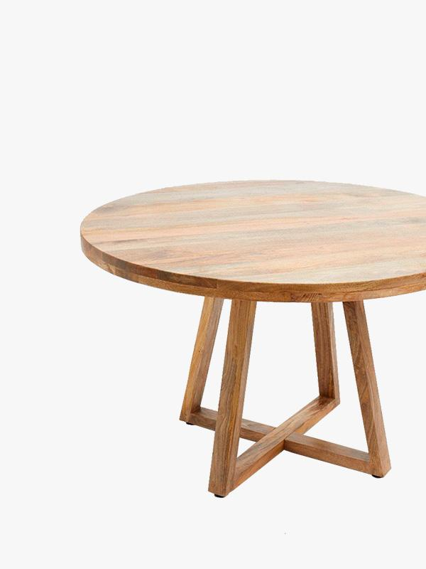 french connection home round wooden dining table