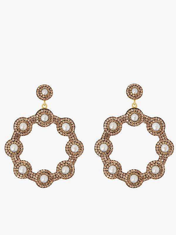 Soru-Jewellery-Golden-Hoop-Pearl-Earrings