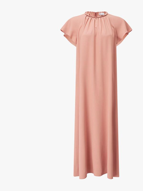 REDValentino Gathered Neck Long Loose Dress