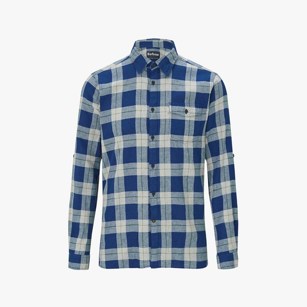barbour langness checked shirt