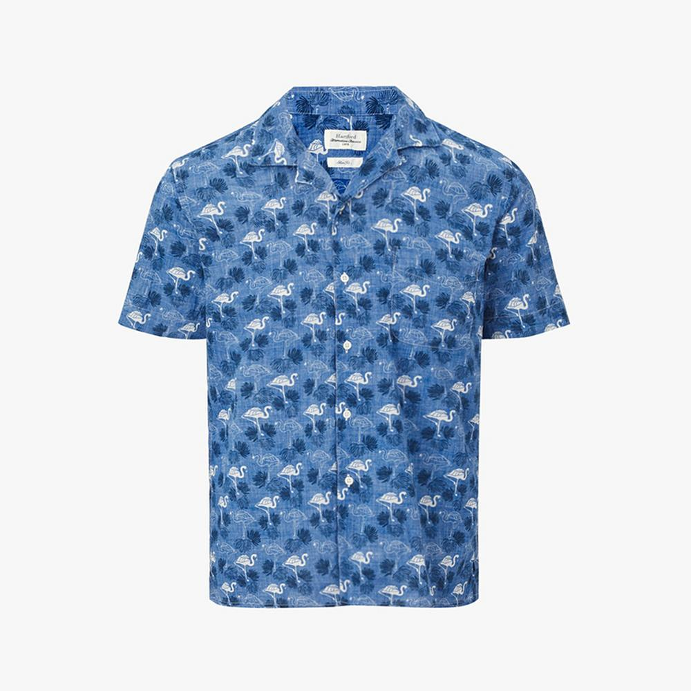 hartford flamingo print shirt