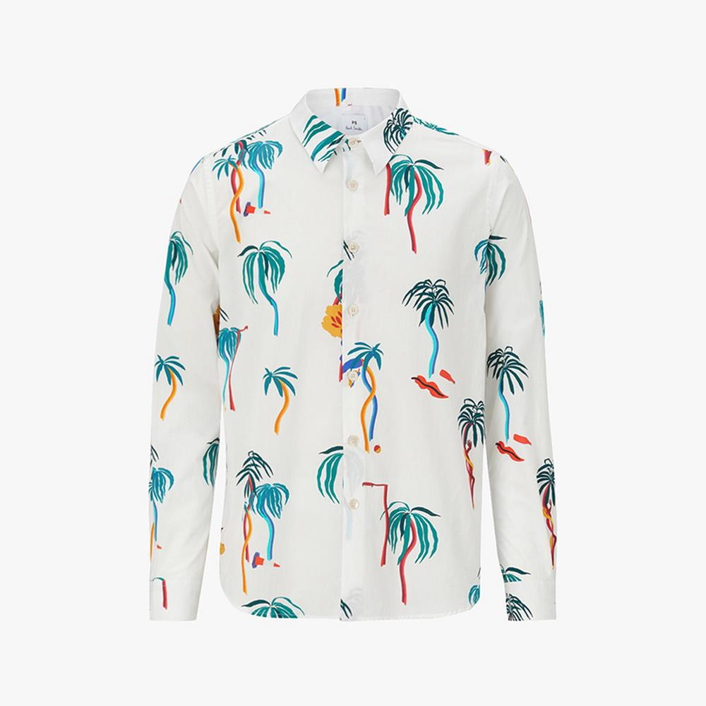 ps paul smith palm tree print shirt