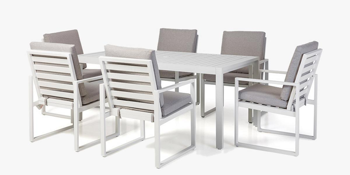 Maze Rattan Amalfi White Dining Table